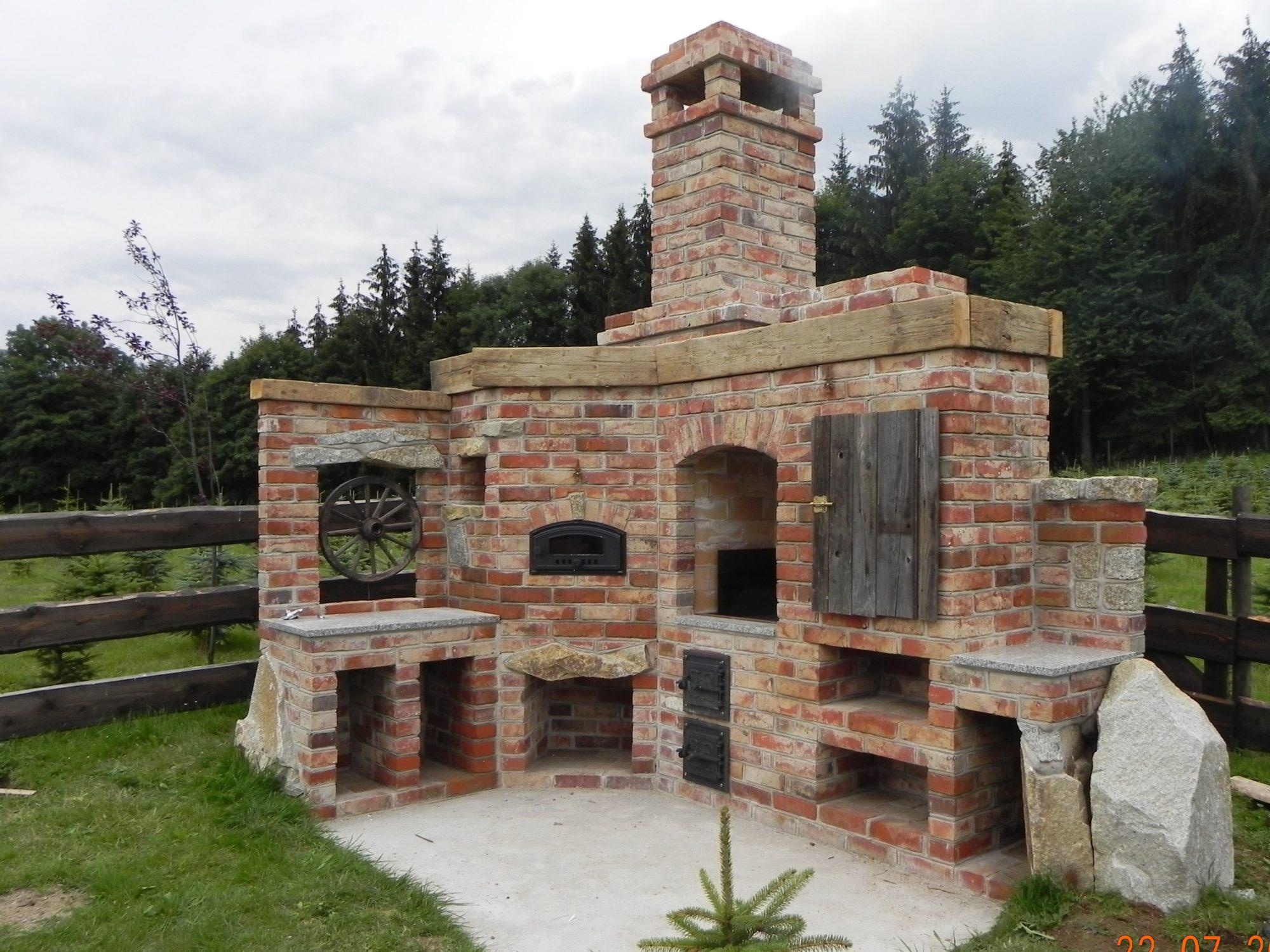 Inne rodzaje Grill ogrodowy murowany | Grill murowany w ogrodzie z cegły YQ53