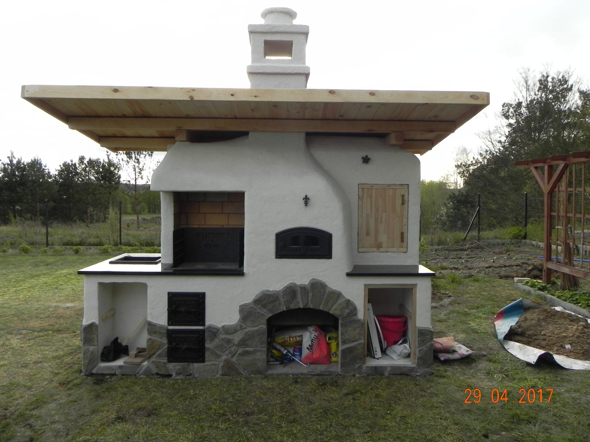 Inteligentny Grill ogrodowy murowany | Grill murowany w ogrodzie z cegły YR92