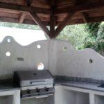 grill murowany wogrodzie