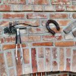 Dekor zestarej cegły