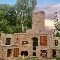 Kuchnia zestarej cegły